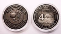 Apollo 14 40th Anniversary Medallion with Space Flown Metal